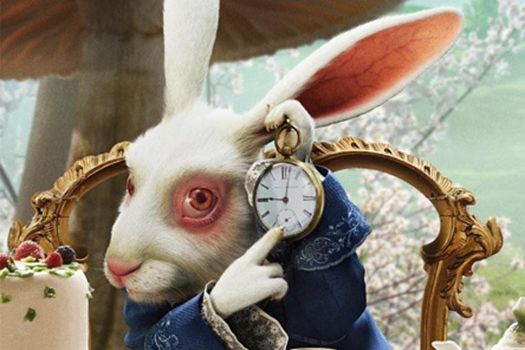 Bianconiglio con orologio